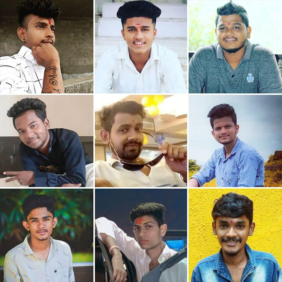 From left to right.  Top row: Atish Gaikwad, Chetan Rathod, Omkar Gunjal. Second row: Sumit Tayade, Ashish Gaikwad, Prasad Bhise. Bottow row: Vijay Fukey, Bhavesh Mhaske, Tanish Sonawane.