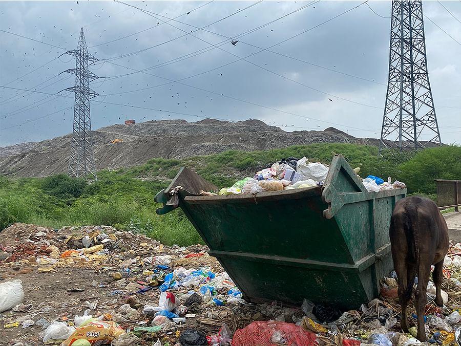 The dumpsite at Ghazipur. Photos: Diksha Munjal