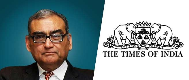 Markandey Katju writes to TOI, says the paper misreported on his petition before the Supreme Court