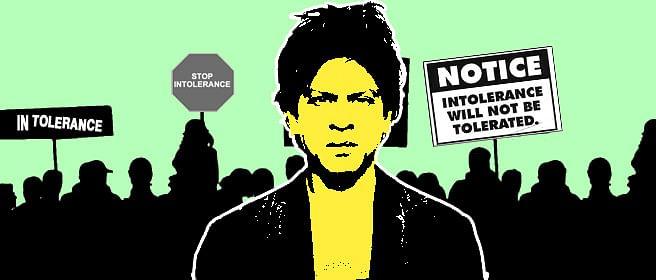 Shah Rukh Khan and a rail gadi named intolerance