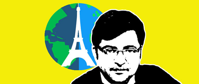 While the Climate Conference was going on, what was Arnab covering?