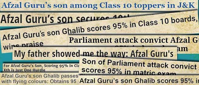 Did Delhi media really need to focus on Afzal Guru to celebrate Ghalib Guru's success?