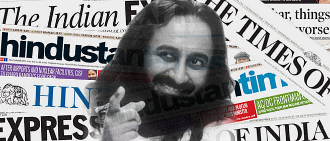 Why so silent on Sri Sri, ToI?