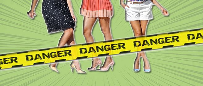 The dangers revealed by short skirts