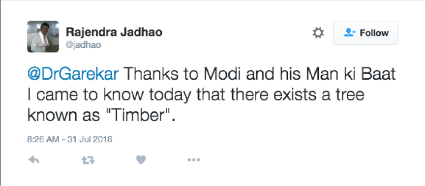 PM Modi and cultivating timber