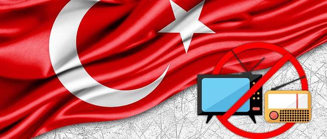 Turkey closes at least 20 TV, radio stations