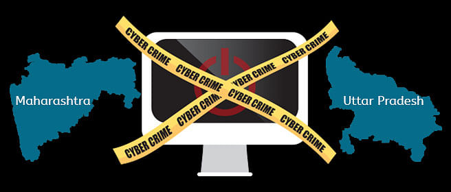 Most number of Cyber Crimes reported are in Maharashtra & Uttar Pradesh