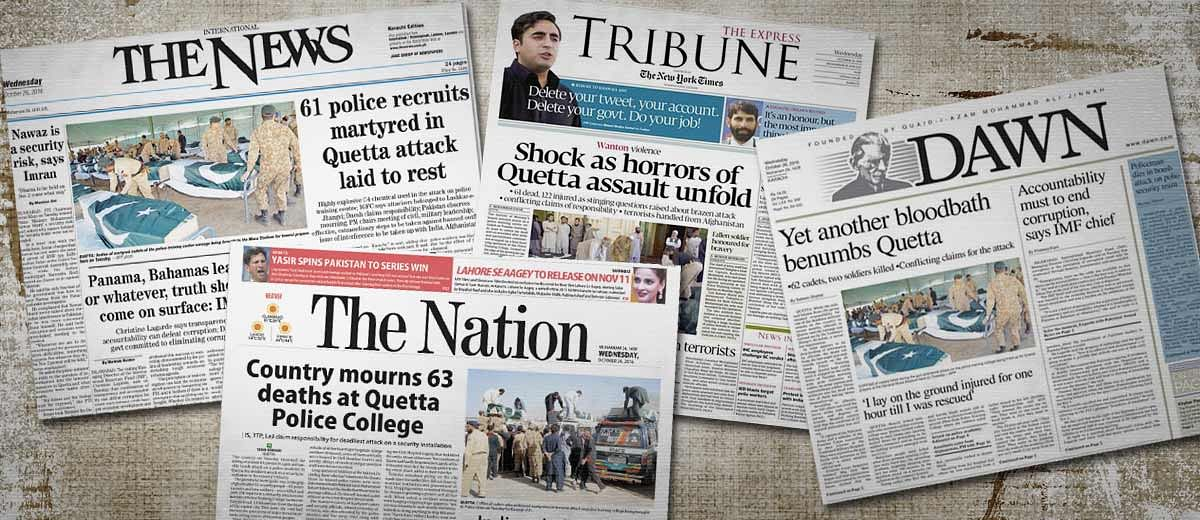 How Prominent Pakistani English Newspapers Covered Quetta