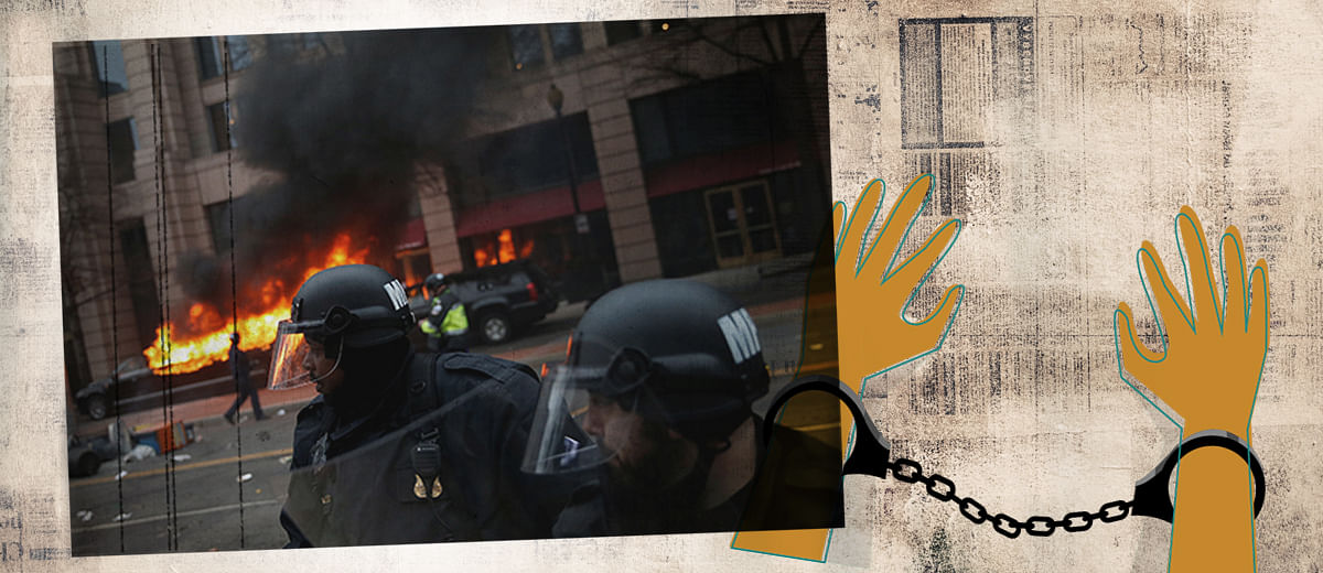 Journalists charged with rioting in Washington