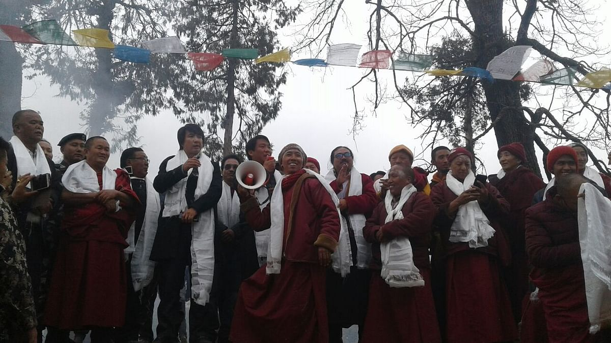 Monks protest against dams on Feb 14, local MLAs promise support