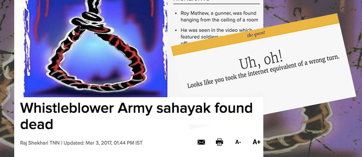 Gunner Roy Mathew's Death Raises Serious Questions That The Quint Must Answer