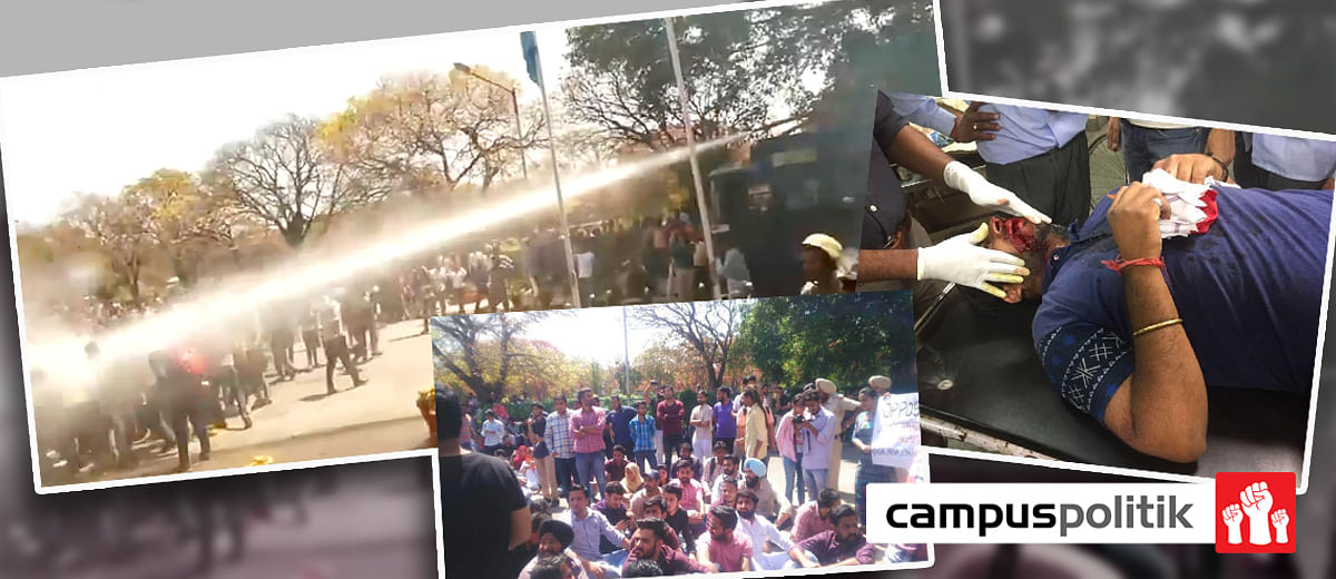 As protests at Panjab University heat up, the Police response escalates