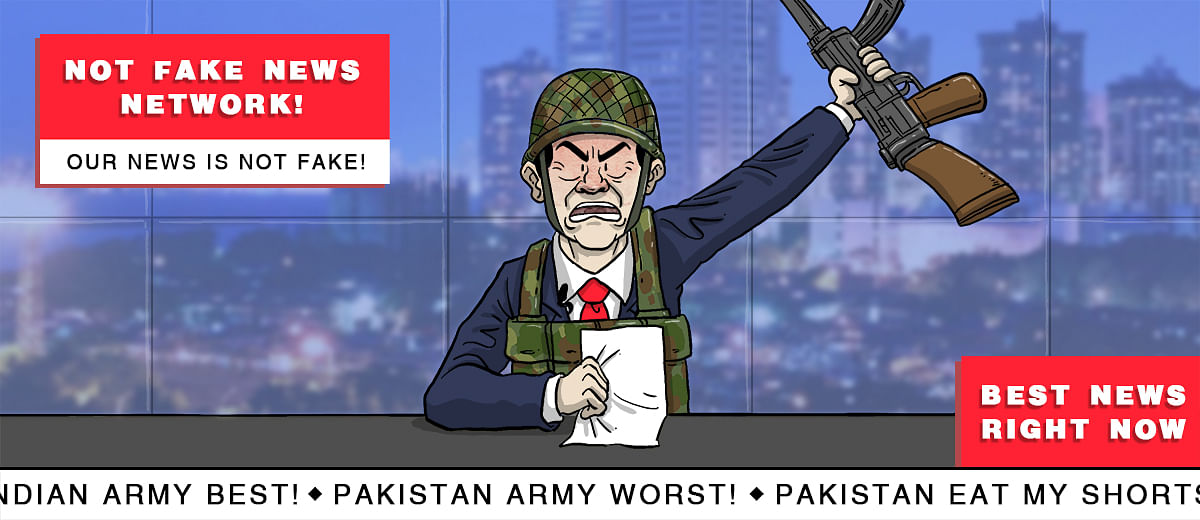 TV channels' pseudo-nationalism cooks up fake news of retaliatory attacks on Pak