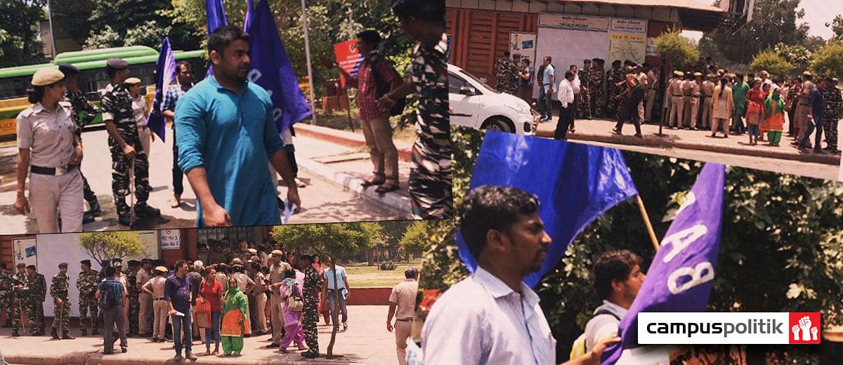 Delhi police detains 27 BAPSA activists protesting the Saharanpur violence