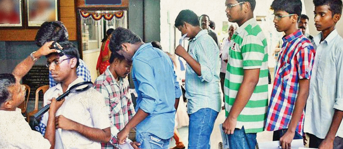 It isn't just NEET, frisking of candidates before examinations is becoming commonplace