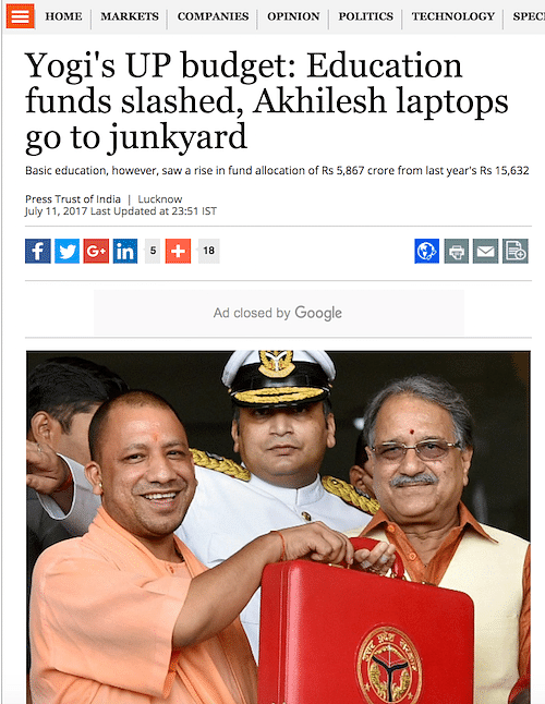 Fact Check: Has the Uttar Pradesh government slashed funds for education?