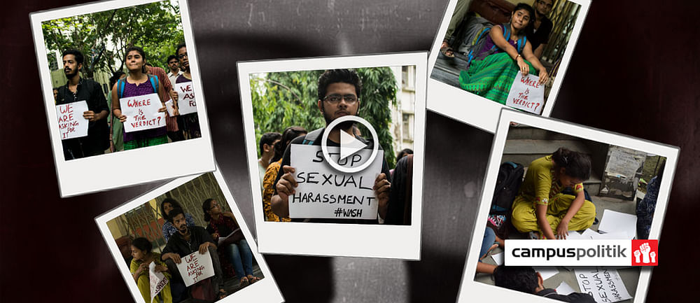 Students Protest Against On Campus Sexual Harassment At Jadavpur University