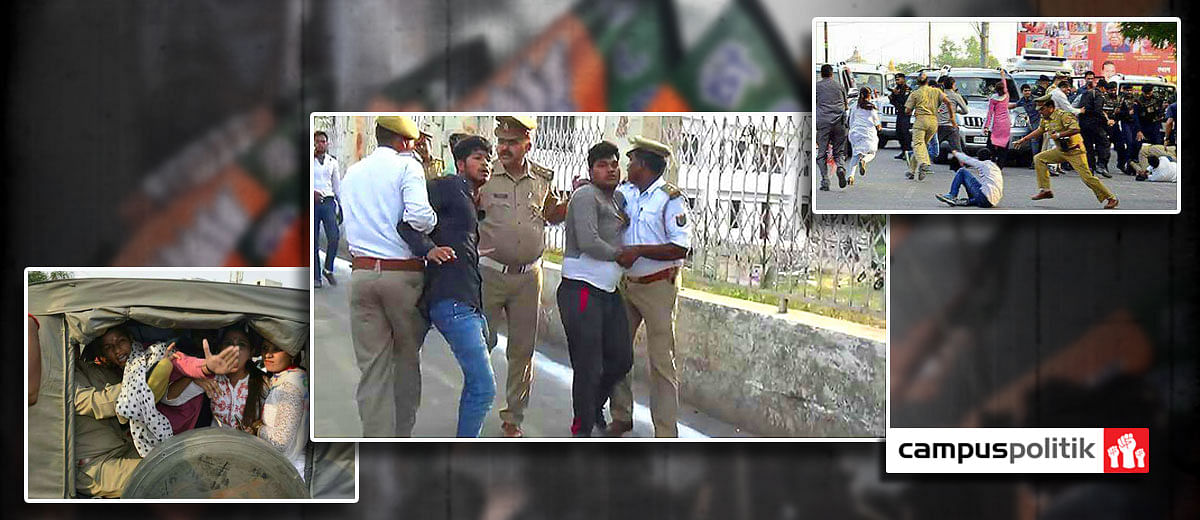 Lucknow University students arrested for holding up Yogi Adityanath's convoy