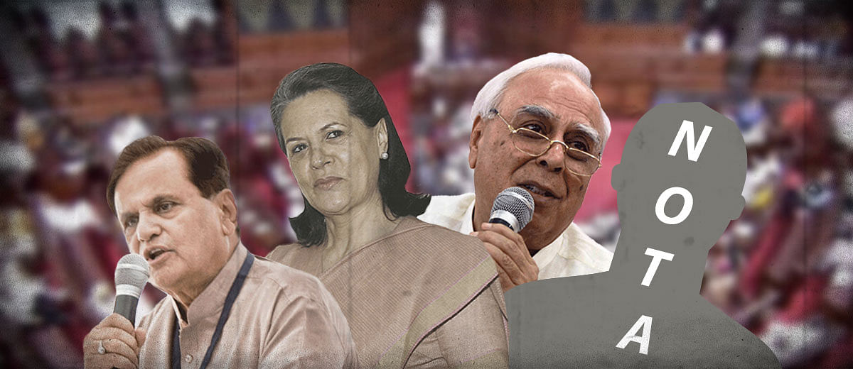 After 20 different elections, Congress party now opposes NOTA in RS elections