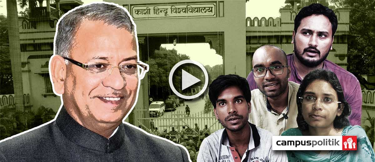 BHU students trash VC's claims made on news channels