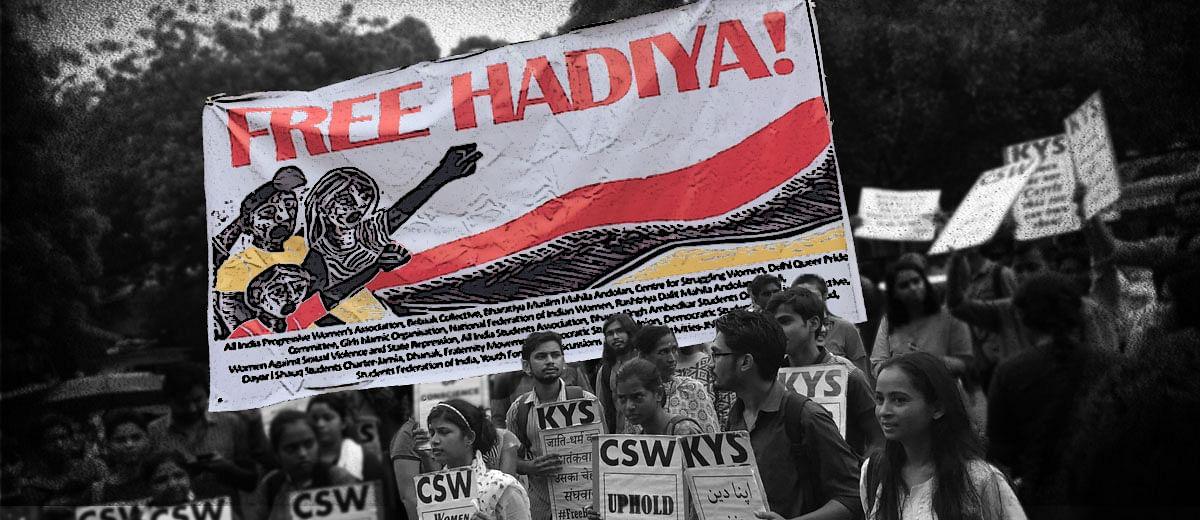Protesters gather at Jantar Mantar to 'Free Hadiya'