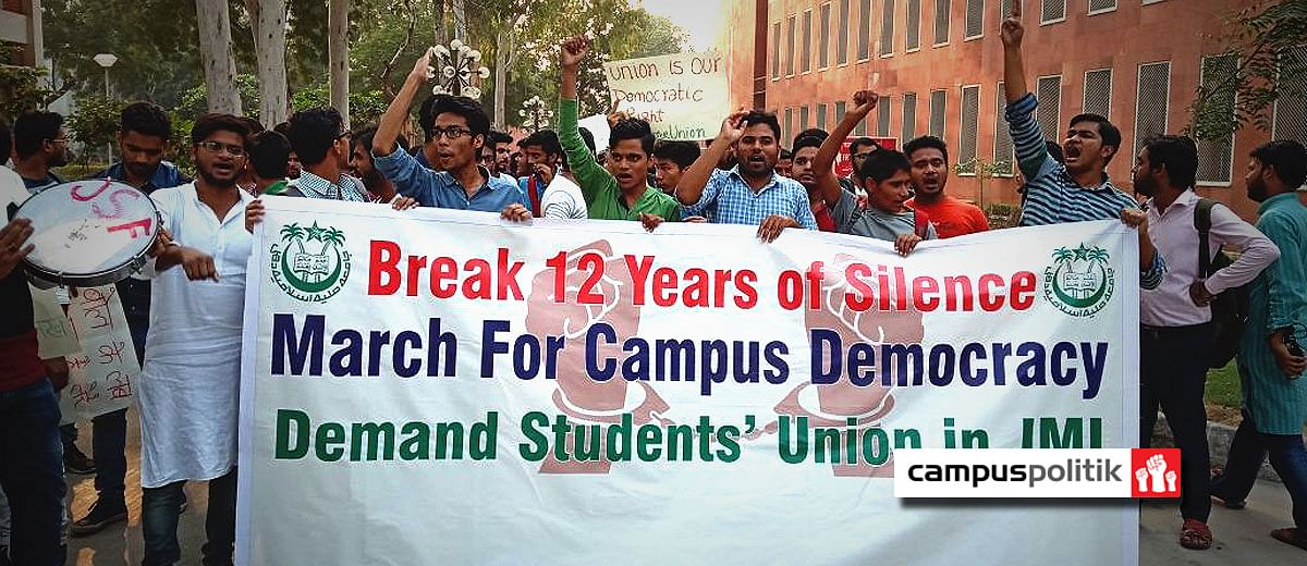 Fight for students' union: Jamia students resort to hunger strike