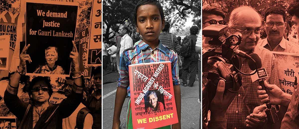 Photo essay: Massive protest in Delhi seeking justice for Gauri Lankesh's murder