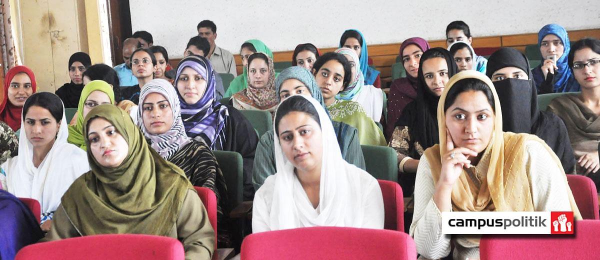 Jammu university cracks down on women students for writing 'Pinjra Tod'
