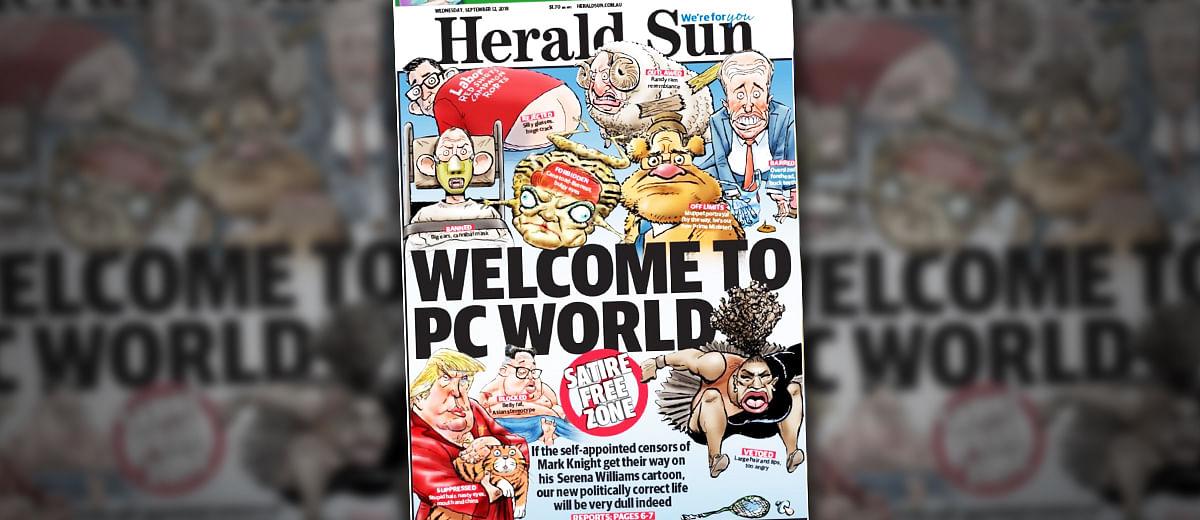 सेरेना के संघर्ष को ऑस्ट्रेलियाई अख़बार का कार्टून क्यों नहीं समझ सकता?