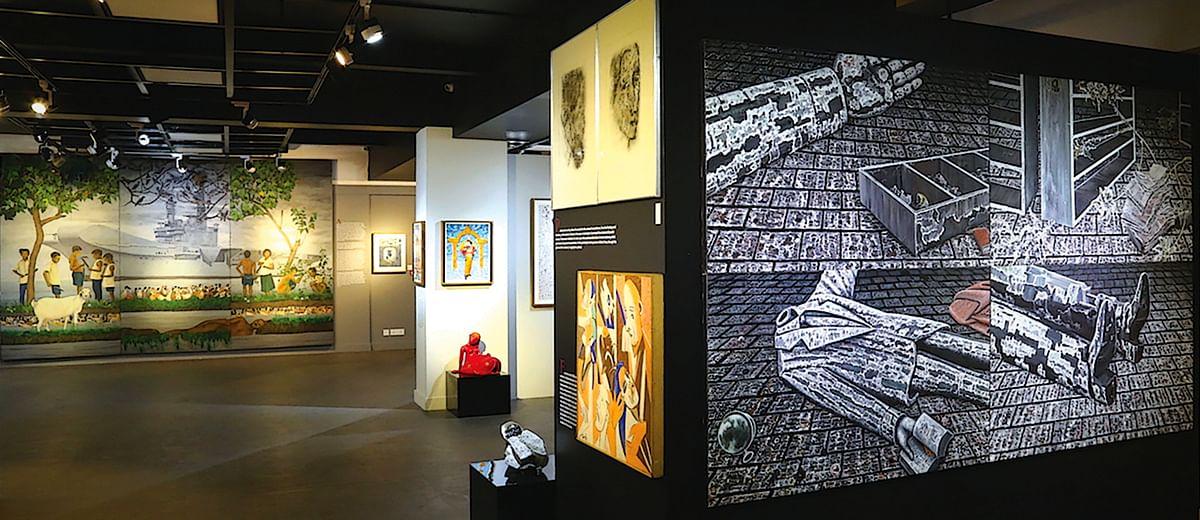 A peek into an art exhibition