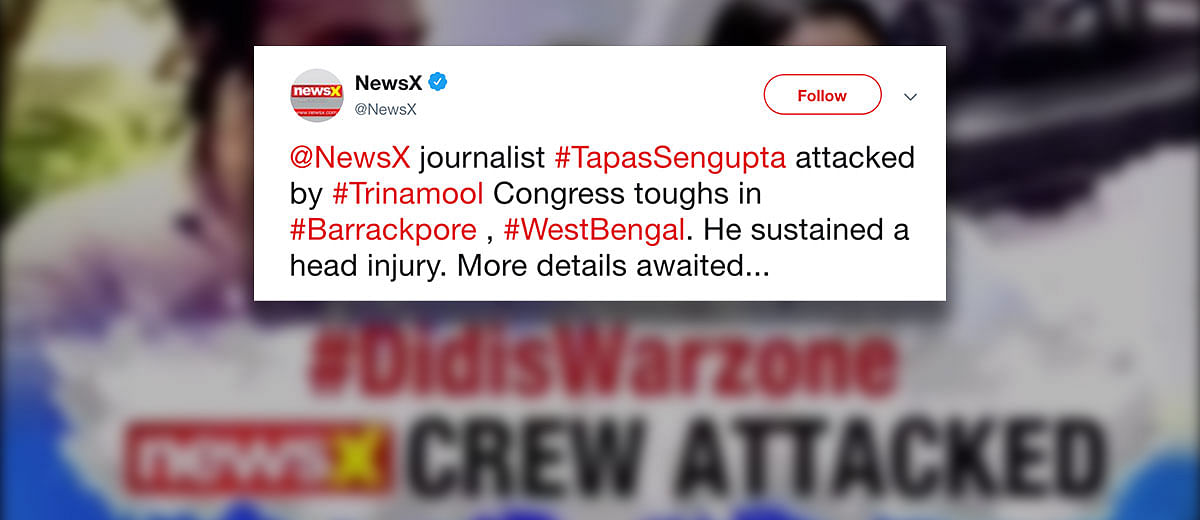 News X's Tapas Sengupta: 'Had they hurled bombs, I don't know what would have happened'