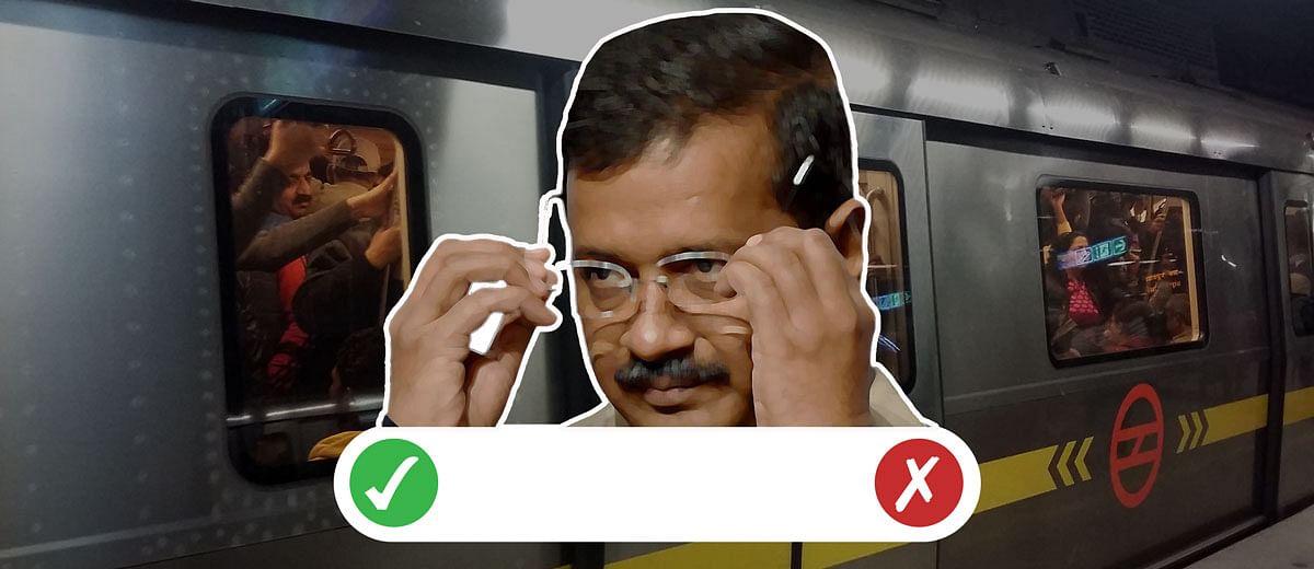 Is Kejriwal's Delhi Metro announcement a gimmick or a legitimate sop?