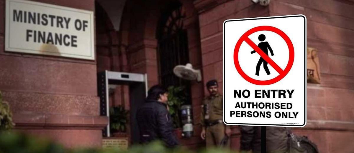 वित्त मंत्रालय: न पत्रकारों का जाना, न ख़बरों का आना