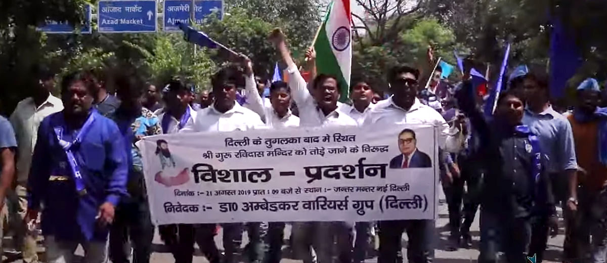 Dalits claim Delhi streets over demolition of Ravidas Mandir