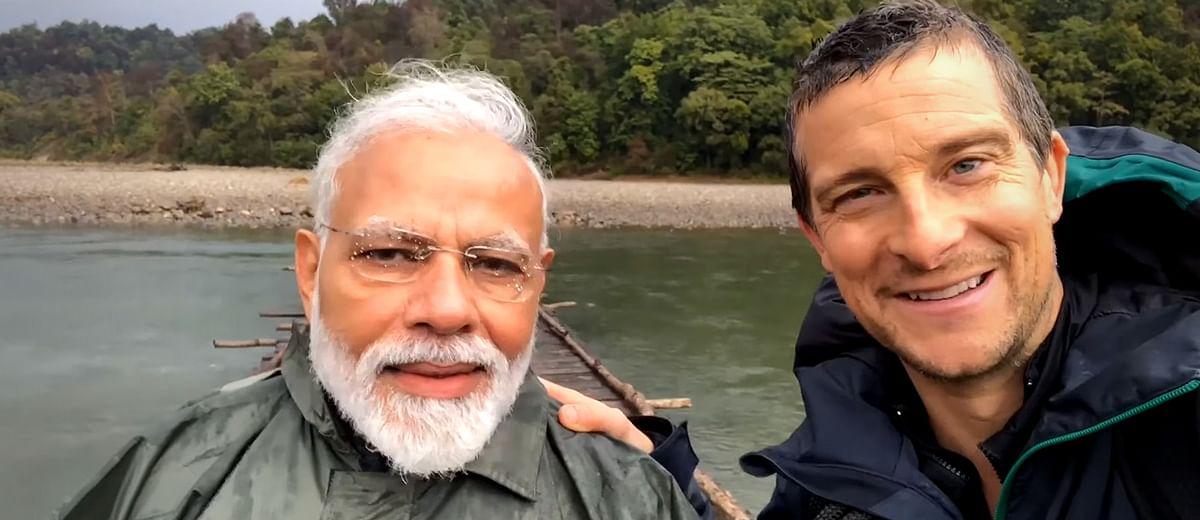 The tamest episode ever of Man Vs Wild, featuring Narendra Modi