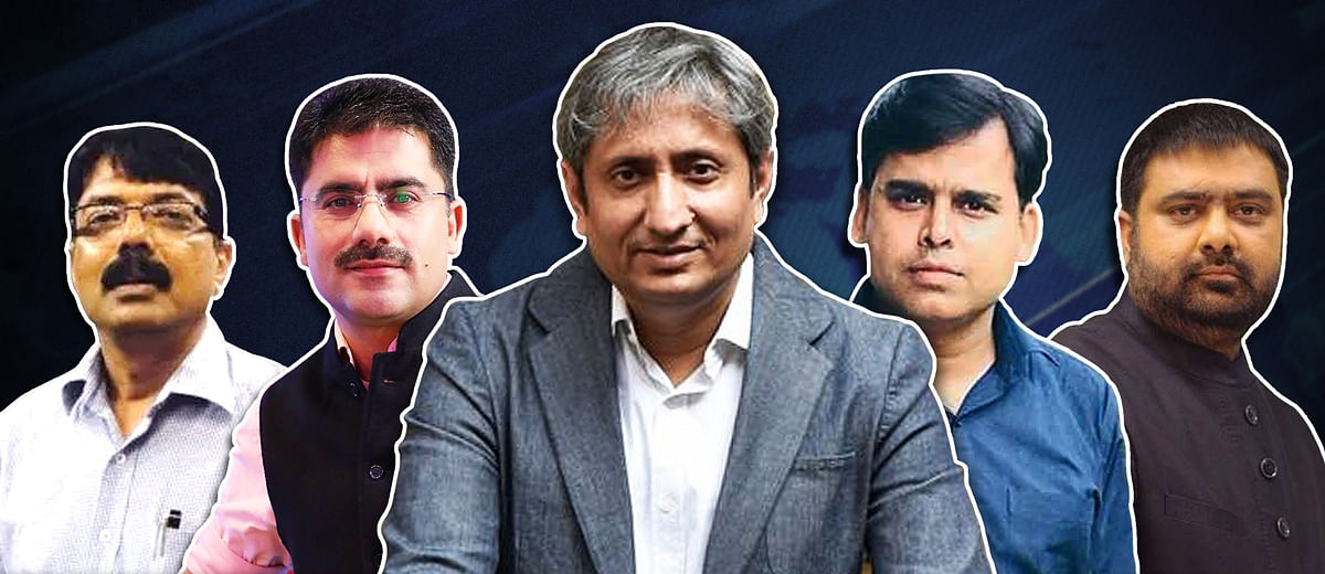 Why did news professionals share the clipped video of Ravish Kumar?