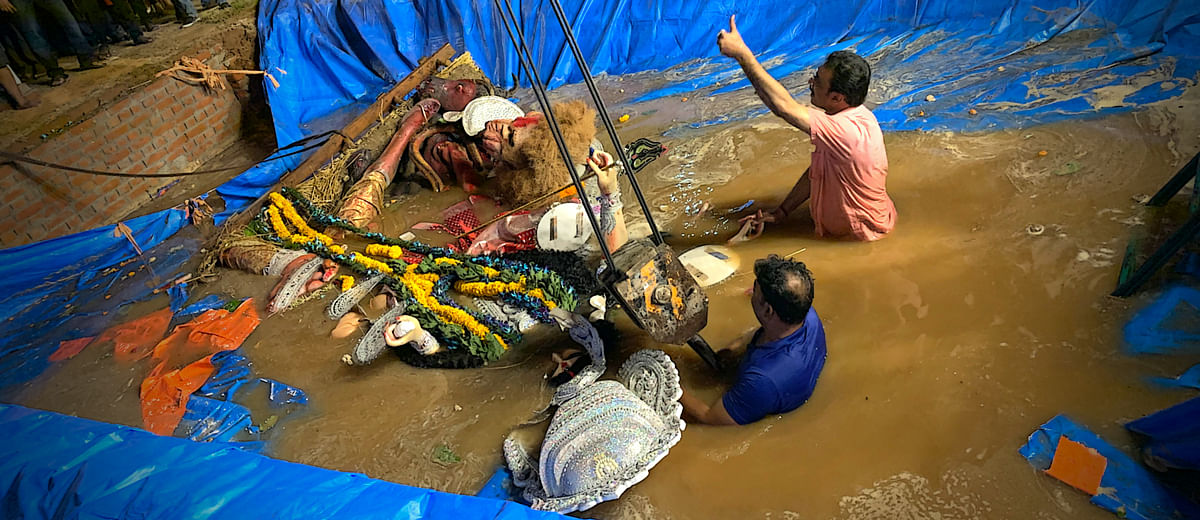 Durga Puja in Delhi spared the Yamuna this year. But was the festival really eco-friendly?