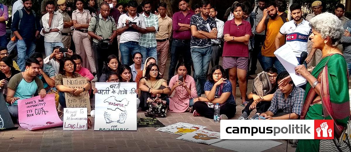 'Bring back Article 370': Delhi University students protest lockdown in Kashmir