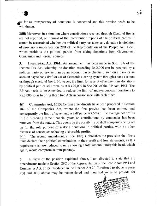 इलेक्टोरल बॉन्ड पर चुनाव आयोग के विरोध को झूठ पर झूठ बोलकर दबाया गया