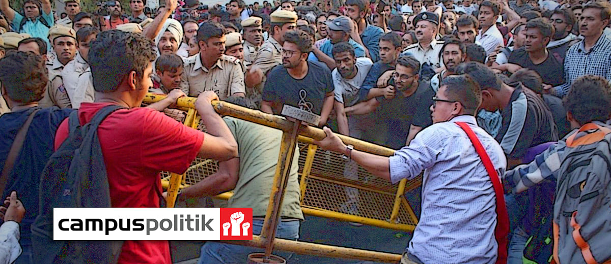 #JNUProtests: Students clash with media, allege they were 'groped, harassed' by police