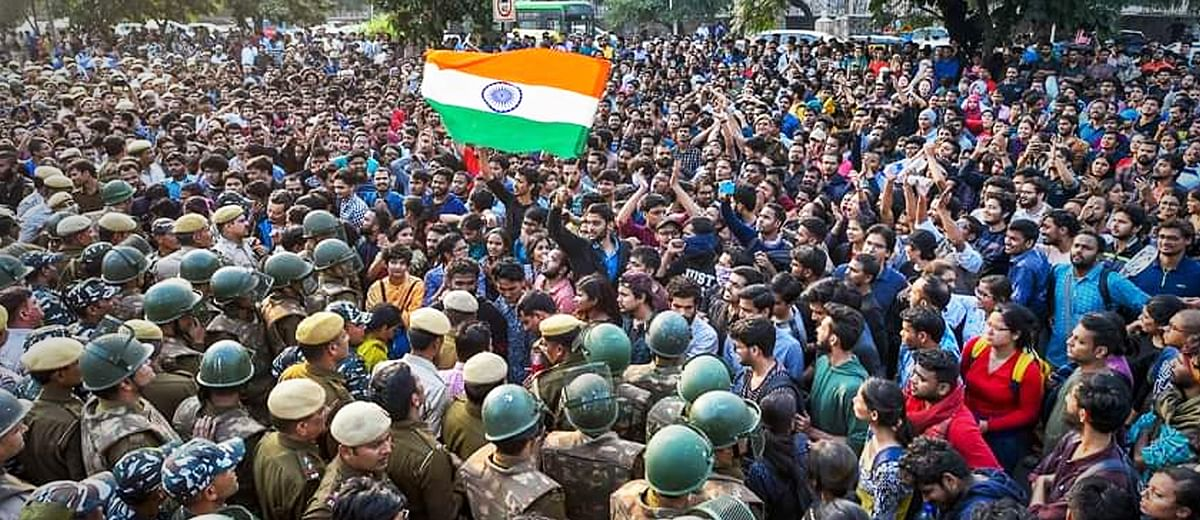 'Streetlights were turned off, police lathi-charged students in the dark': A reporter's account of #JNUProtests