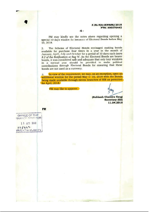चुनाव से ठीक पहले प्रधानमंत्री कार्यालय ने इलेक्टोरल बॉन्ड की अवैध बिक्री का आदेश दिया