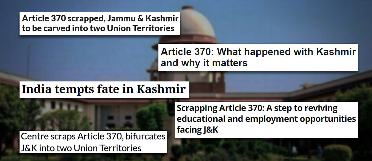 Article 370: Hearing barely begins and Supreme Court defers it again, for over a month