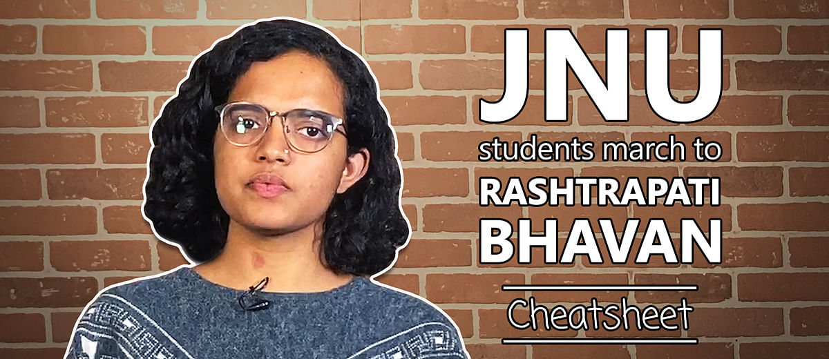 What happened when JNU students marched on Rashtrapati Bhavan