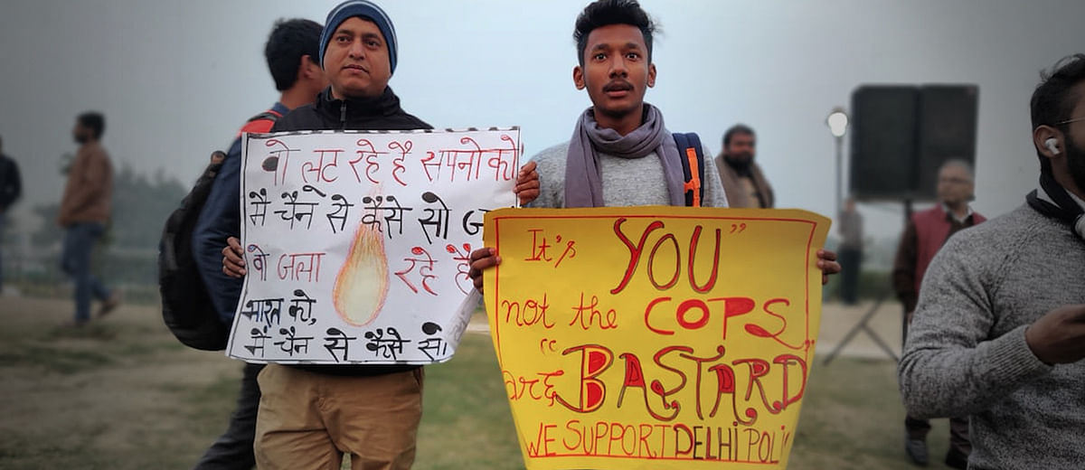 In the heart of Delhi, a demonstration in support of the Citizenship Amendment Act