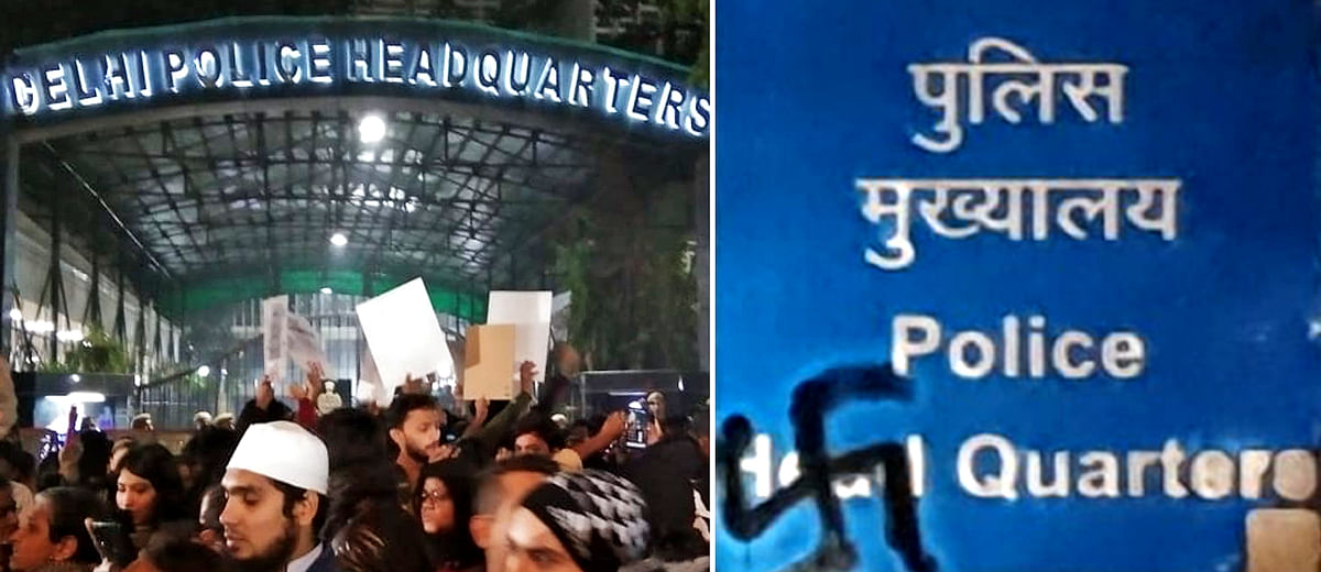 'Injustice has been done': Students, teachers and citizens protest violent Jamia crackdown outside Delhi police HQ