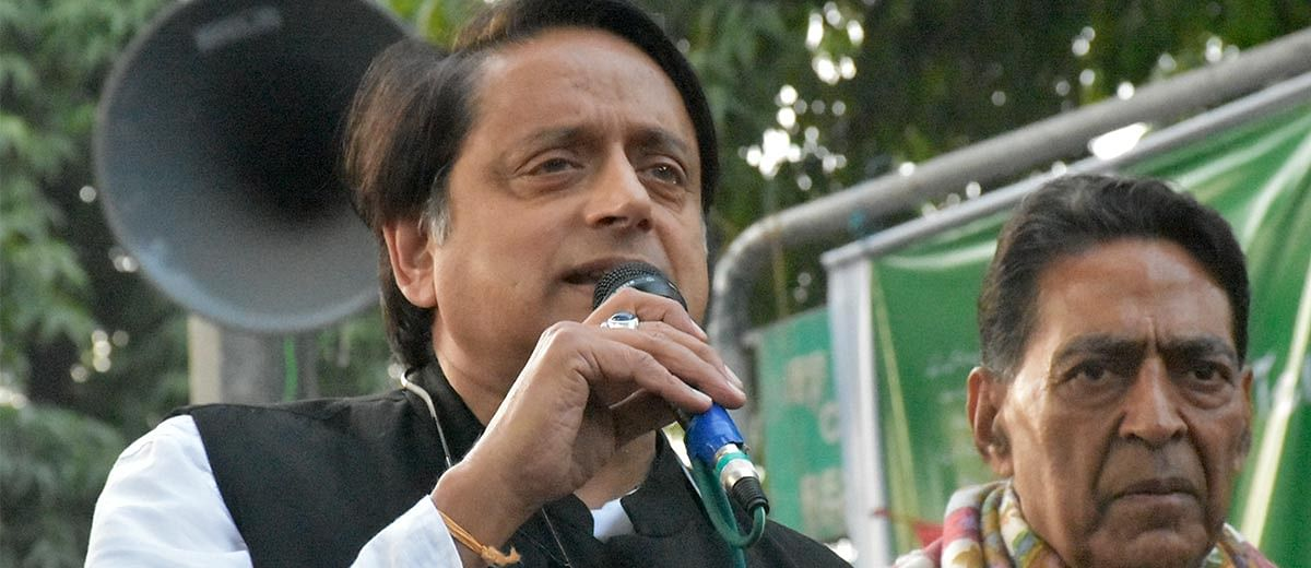 First person: When I was stopped from covering Jamia protest against Shashi Tharoor