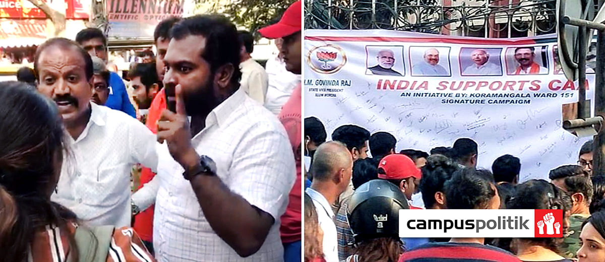 Bengaluru students protest pro-CAA banner by BJP workers, are told to 'go to Pakistan'