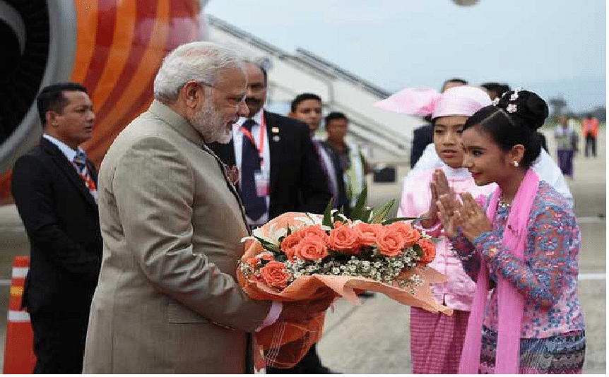 Modi arrives on three-day visit to Myanmar