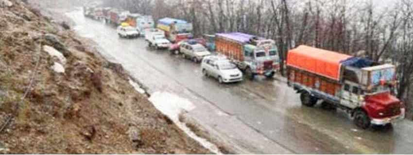 Landslides force closure of Srinagar-Leh highway